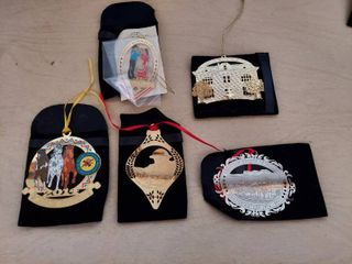 5  Choctaw Nation Ornaments and Box of Christmas Decor