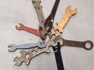 8 assorted wrenches