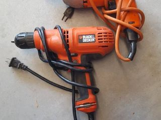 2 Black   Decker drills