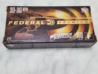20 ct  Federal 30   30 win  150 gr bullets