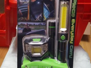 3 pc  flashlight set w  batteries