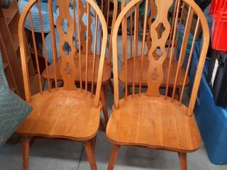 4 Oak Dinning Chairs