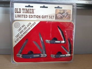 3 Pcs Schrade Old Timer limited Edition Gift Set 12ot  72ot  61ot Knives