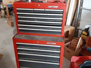 Craftsman Top and Bottom Toolbox on Casters with Contents