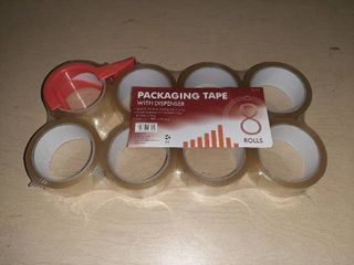 8 Rolls pack 1 88  X 54 6yd Packaging Tape With Dispenser