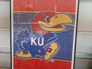 KU Poster in Frame