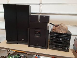 Sony Stereo Components and Speakers