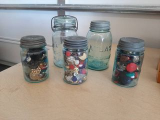 Old Jars   3 Have Buttons