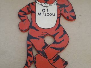 Mizzou Tiger Wooden Cutout