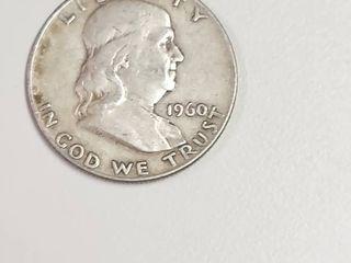 1960 D Franklin Silver Half Dollar
