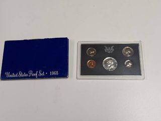 1968 United States Proof Set   Includes Silver Clad Half Dollar