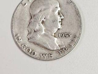 1953 S Franklin Silver Half Dollar