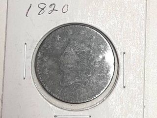 1820 large Cent   200 Years Old