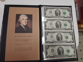Uncut Sheet of  2 Bills
