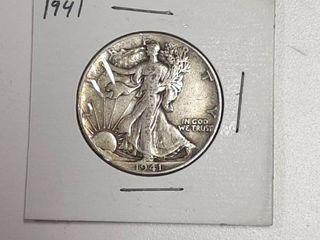 1941 Walking liberty Silver Half Dollar