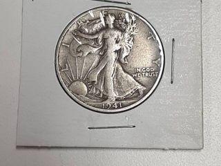 1941 S Walking liberty Silver Half Dollar