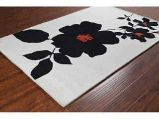 Hand tufted Floral Wool Rug 8x10