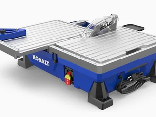 Kobalt Tile Saw Wet Tabletop Sliding Table