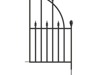 No Dig Powder Coated Steel Fence Panel  Common  30 in x 16 6 in  Actual  30 in x 16 6 in