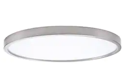Project Source Flushmount Ceiling Fixture Brushed Nickel Finish 13in x 13in x 1in