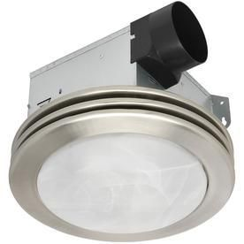 Utilitech 2 Sone 80 CFM Brushed Nickel Bathroom Fan