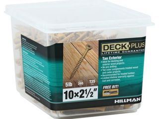 48416 Deck Plus Wood Screws  Self Drilling  Tan Ceramic  2 5 In  x  10  5 lbs    Quantity 1