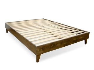 Solid Wood Mid century Platform Bed   King