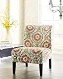 Contemporary Floral Accent Chair