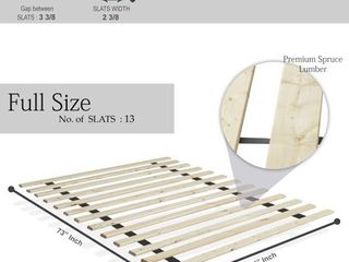 Onetan 0 75 inch Standard Mattress Support Wooden Bunkie Board   Slats  Full
