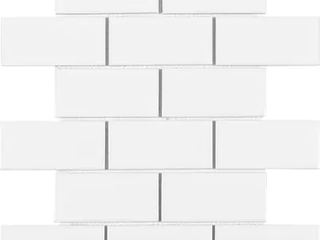 Satori by Anatolia Hudson Brilliant White Glossy Wall Tiles 9 53 x 11 22