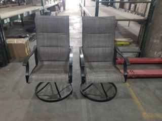 Pair of Outdoor Swivel Chairs