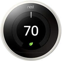 Google   Nest learning Smart Thermostat   3rd Generation   Stainless Steel