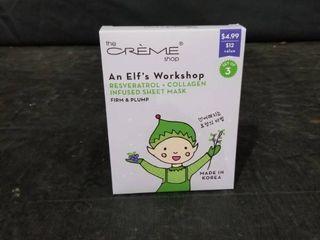 The Creme Shop Elf s Workshop Firm   Plump Set Of 3 Facial Masks   In Box