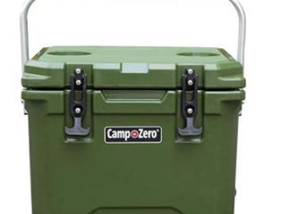 CAMP ZERO 10l   10 6 Quart Premium Cooler Ice Chest with 2 Molded in Cup Holders   Dark Green Retail  99 99