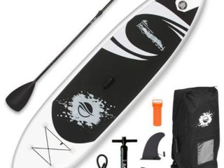 Serenelife SlSUPB08   Free Flow Paddle Board SUP   Stand Up Water Paddle Board  11 ft  Retail  565 99
