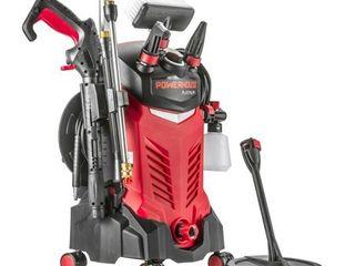 Powerhouse International   Electric High Power  Pressure Washer   3000 PSI 2 2 GPM   Power Washer   Patio Cleaner   Hose Reel   Spray Gun  Red   Platinum Edition