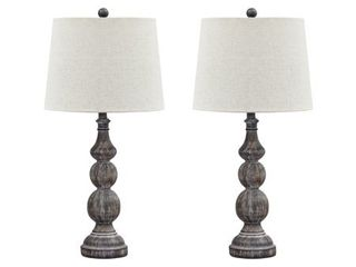 Signature Design by Ashley Mair Antique Black 29  Poly Table lamp   Set of 2   Retail  119 99
