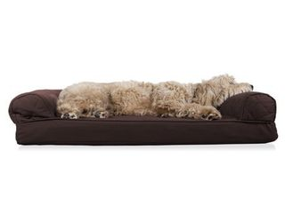 FurHaven Pet Dog Bed Orthopedic Quilted Sofa Style Couch Pet Bed for Dogs   Cats  Coffee  large Retail  39 99