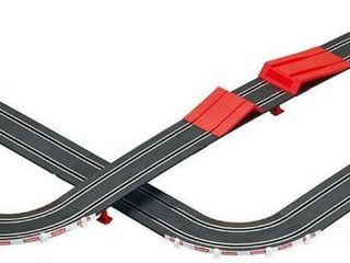 Carrera 63504 Speed Trap Battery Operated 1 43 Scale Slot Car Racing Track Set with Jump Ramp Retail  49 99