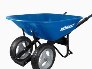 Kobalt 7 cu ft Steel Wheelbarrow with Flat Free Tire Retail  129 99