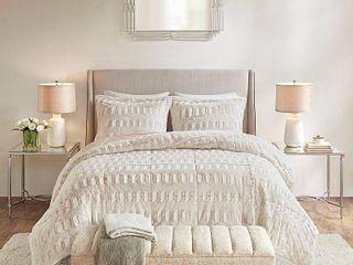 Madison Park Gia King California King 3 Pc  Back Print long Fur Comforter Mini Set