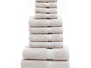 Impressions Hymnia Egyptian Cotton Solid 10 Piece Towel Set
