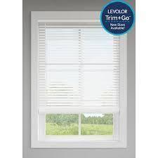 levolor Trim go 2  Cordless White Faux Wood Blinds 23 x64  Cut To 21 5  lt6 136