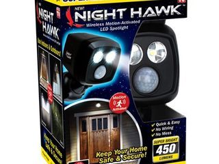 night hawk wireless motion activated led spotlight
