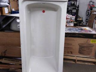 white bath tub right hand plastic