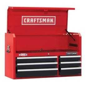 CRAFTSMAN Heavy Duty 41 in W x 24 5 in H 6 Drawer Ball bearing Steel Tool Chest  Red