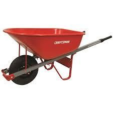 craftsman wheel barrel red and grey 6cft