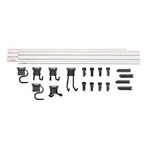 Craftsman Versatrack 20pc Piece White And Black Composite Storage Rail System
