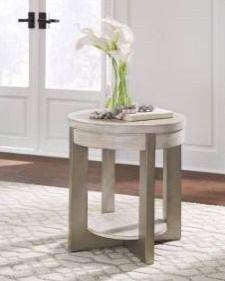 Urlander Whitewash Contemporary Round End Table Retail 219 99