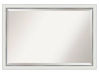 Eva White Silver Narrow Bathroom Vanity Wall Mirror Retail 149 99